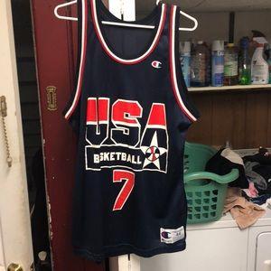 Vintage Champion USA  Shawn kemp jersey large